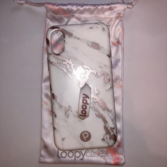 watch 24cc3 0ffa5 iPhone X Rose Marble Metallic Loopy Case📱
